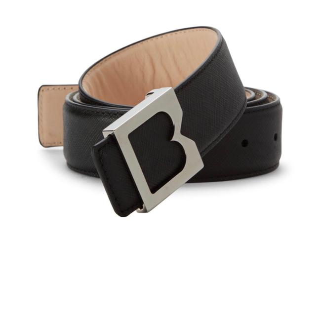 Item - Black Textured Leather Belt