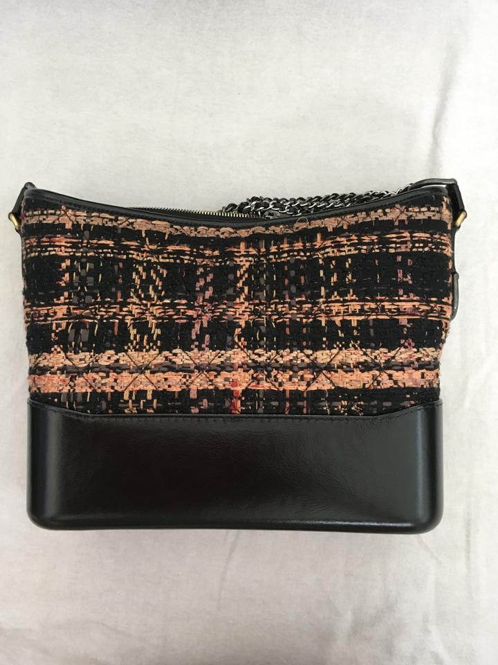 a00c1fe3110bf3 Chanel Gabrielle Hobo Fall 2017 Quilted Tweed Black Orange Leather ...