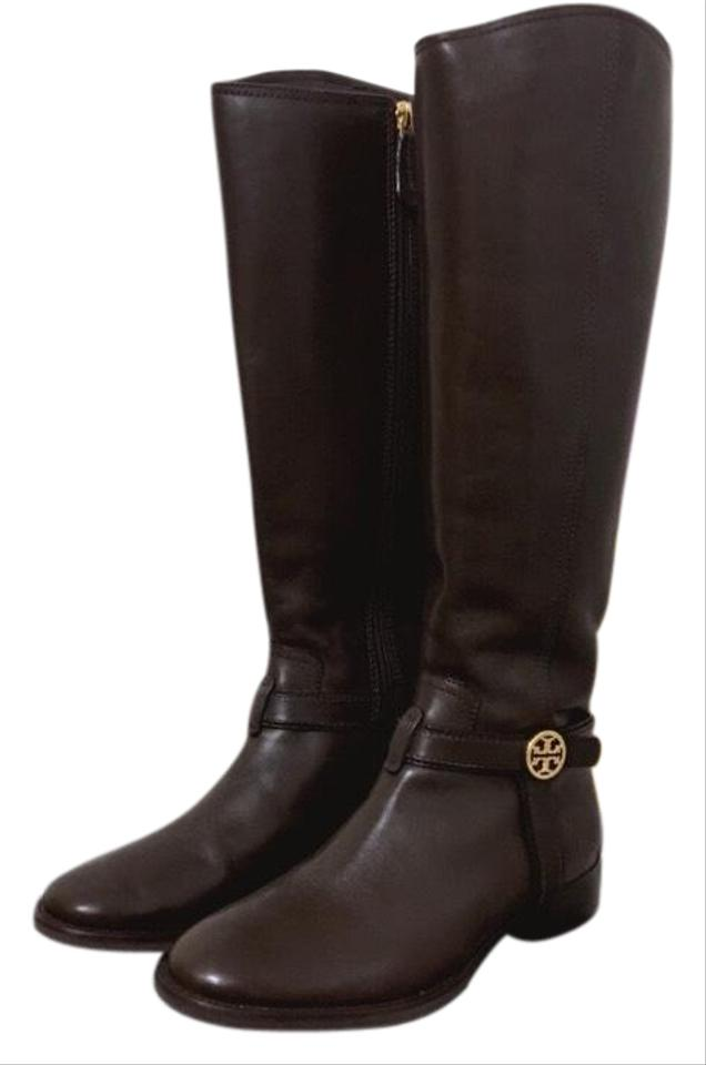 0888bdc20fea Tory Burch Brown Bristol Riding Boots Booties Size US 7.5 Regular (M ...