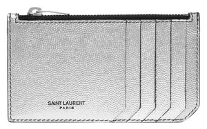 Saint Laurent metallic card holder coin case