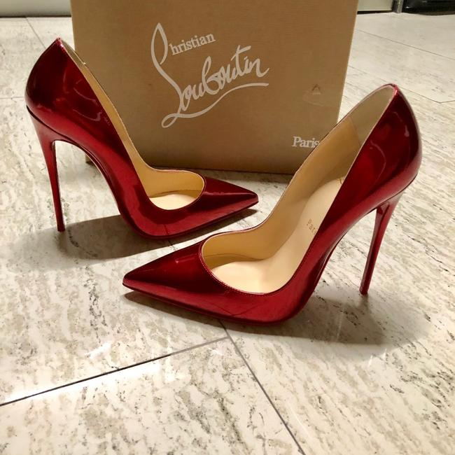 Christian Louboutin Nude So Kate 120 Beige Patent Leather