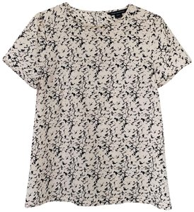 French Connection Marble Print Blush Top pink, navy