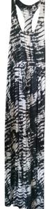 black gray white multi Maxi Dress by Willi Smith Pattern And