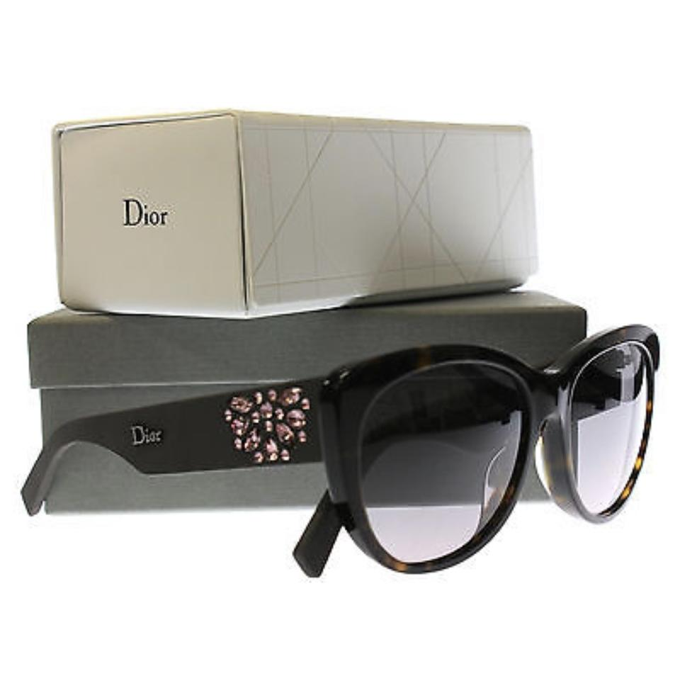 b6192f580cf Dior Brown Pink Purple Crystals New Christian Inedite F Bojeu Havana Matte  Sunglasses