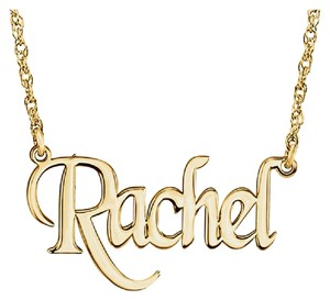 Apples of Gold GOLD PERSONALIZED NAME NECKLACE WITH STYLISH BLOCK FONT