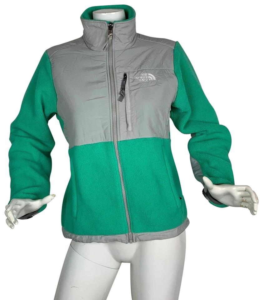 24144557b The North Face Green Gray Denali Fleece Polartec Women S Jacket Size 4 (S)  38% off retail