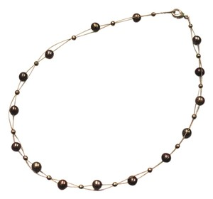 Hawaiian black pearl necklace