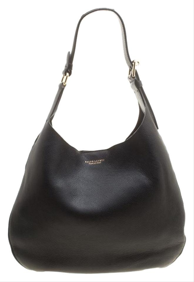 736d92327019 Ralph Lauren Flat Black Suede Leather Hobo Bag - Tradesy