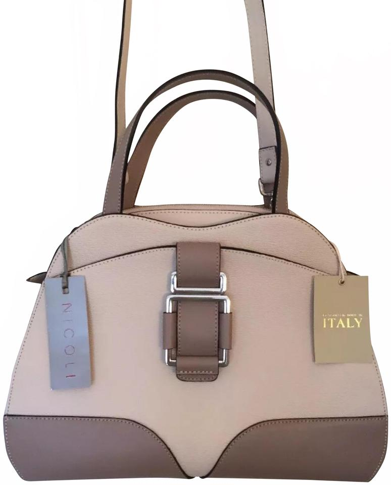 5ee7ceda5 NICOLI New In Italy Italian Nude Fard Genuine Leather Satchel - Tradesy