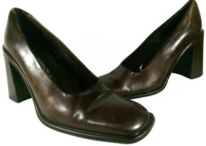 Via Spiga Leather Casual BROWN COFFEE Pumps