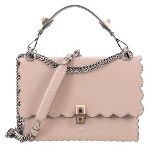 f0c95ec734 Fendi Kan I Handbag Medium Pink Leather Shoulder Bag - Tradesy
