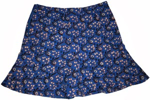 J.Crew Fit And Flare Floral Mini Skirt Blue