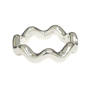 Tiffany & Co. Paloma Picasso Sterling Silver Zig Zag Band Ring Sz 8.5 $185 NWOT