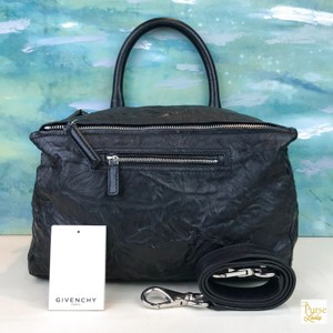 Givenchy Leather Pandora Satchel in Black