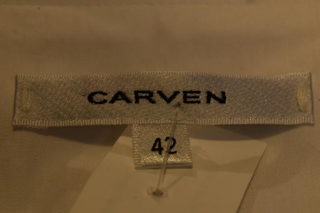 Carven Button Down Short Sleeves Embellished Top White