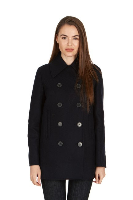 Preload https://img-static.tradesy.com/item/24693065/dior-navy-women-s-wool-blend-double-breasted-coat-size-8-m-0-0-650-650.jpg