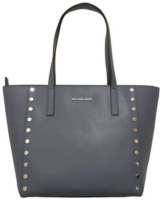 Item - Rivington New Studded Med Blue Silver Leather Tote