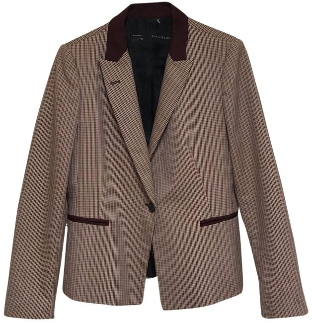 Item - Multi Color XL Patched Elbow In Burgundy Blazer Size 16 (XL, Plus 0x)