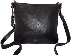 Fossil Leather Expandable Cross Body Bag