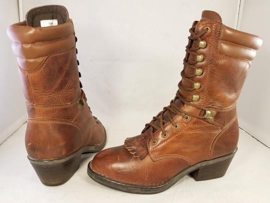 Double-H Boots Woman Granny Goth Punk Size 7.5m brown Boots