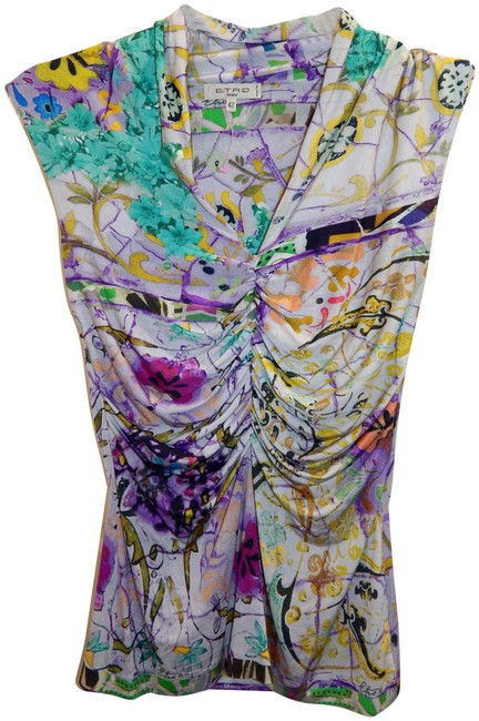 Preload https://img-static.tradesy.com/item/24693193/etro-mulitcolor-multi-ruched-sleeveless-stretchy-italy-blouse-size-6-s-0-1-650-650.jpg