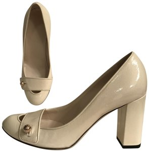 Gucci Patent Leather Leather Formal Mary Jane Made In Italy white ivory Pumps