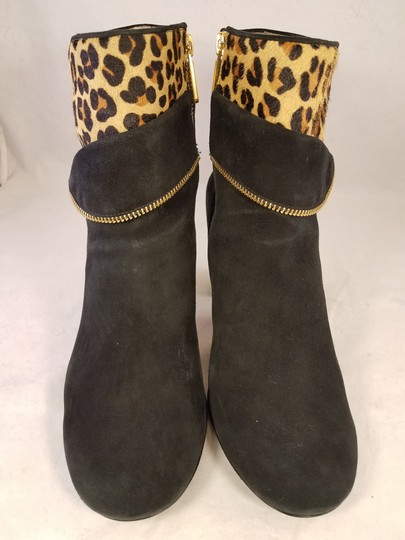 Taryn Rose Ankle Leopard Woman Size 8.5 black Boots