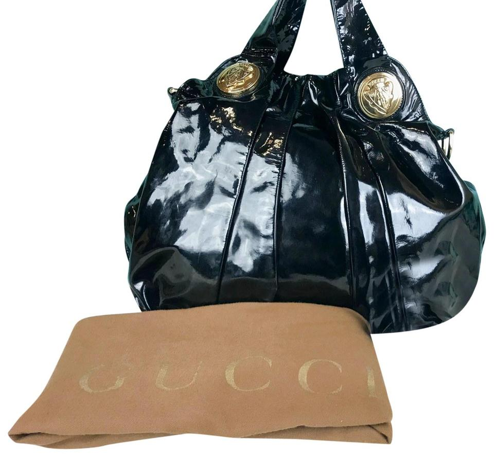 4bf672b91c6 Gucci Shoulder Hysteria 2 Way Sale Black Patent Leather Hobo Bag 69% off  retail