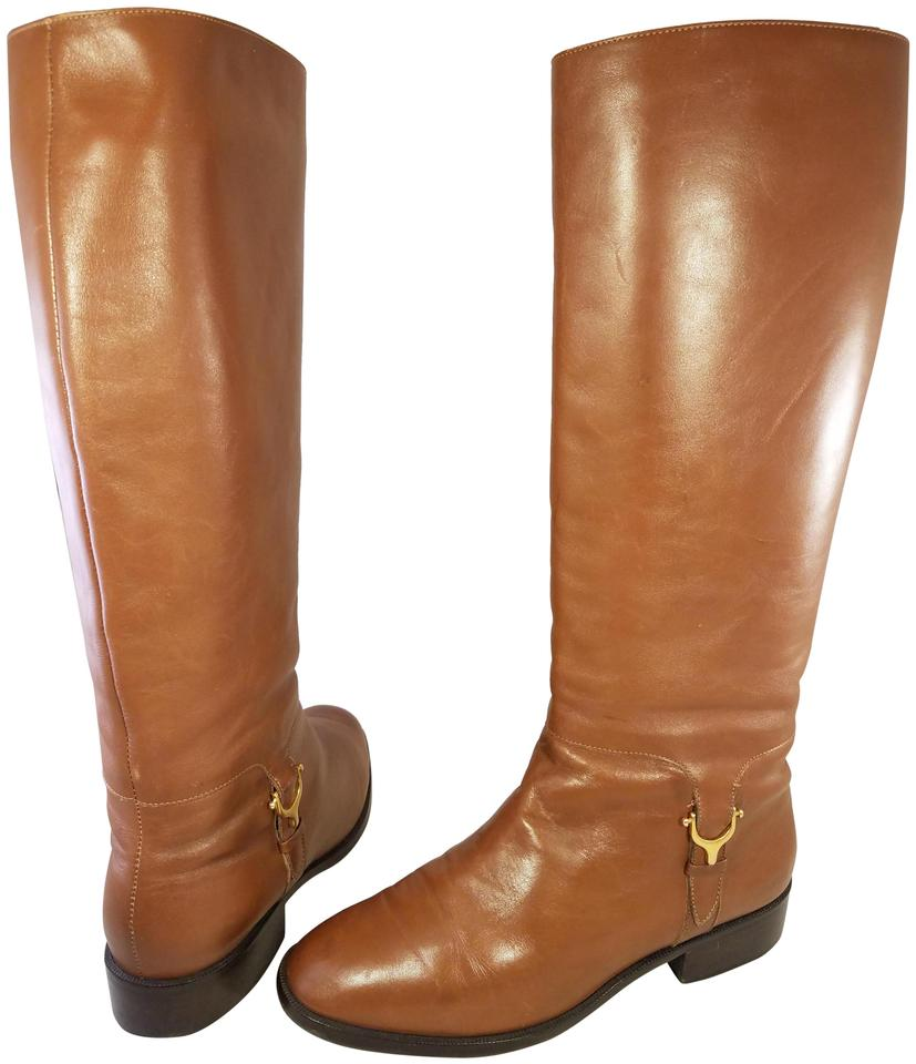 5104f2e37d Etienne Aigner Tan Woman Riding Equestrian Leather M   Boots Booties ...