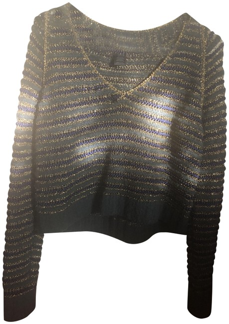 Preload https://img-static.tradesy.com/item/24693292/marc-jacobs-metallic-gold-blue-cropped-open-knit-green-sweater-0-1-650-650.jpg