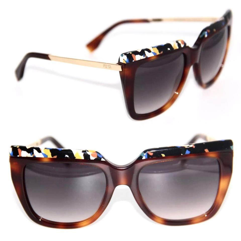 2a1639f8bee Fendi Brown Multi Color Square Galassia Ff 0087 S 0cua 9c Sunglasses ...