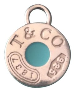 Tiffany & Co. Tiffany & Co 1837 Blue Enamel Round Charm