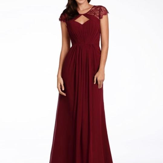 Preload https://img-static.tradesy.com/item/24693392/hayley-paige-collections-burgundy-chiffon-5709-formal-bridesmaidmob-dress-size-16-xl-plus-0x-0-0-540-540.jpg