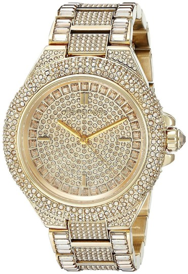 Preload https://img-static.tradesy.com/item/24693474/michael-kors-gold-tone-stainless-bracelet-pave-crystal-glitz-camille-mk5720-watch-0-0-540-540.jpg