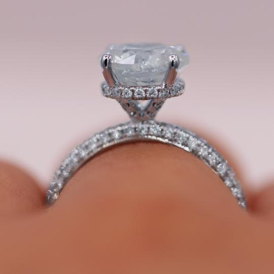 Micropave 3.45tcw Diamond Engagement Ring