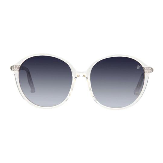 Swarovski Swarovski Crystal-Arm Round Sunglasses, Clear