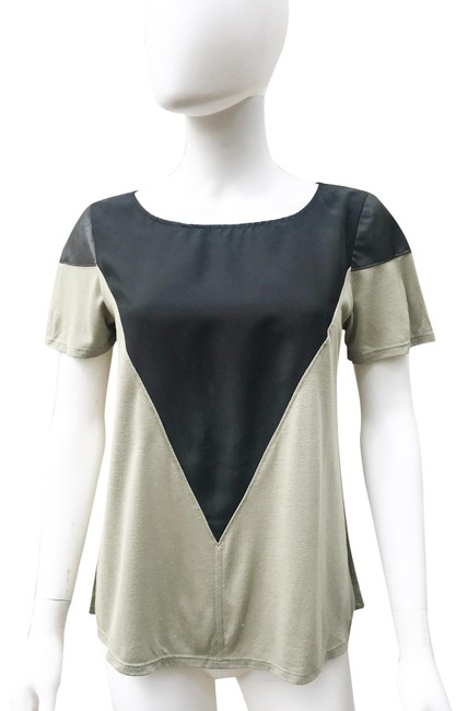 Preload https://img-static.tradesy.com/item/24693563/aiko-gray-leather-silk-tee-shirt-size-4-s-0-1-650-650.jpg