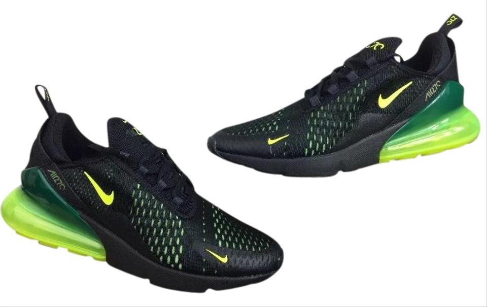innovative design c1800 8cbba Nike Mens Air Max 270 Running Trainers Black/Neon Green Sneakers Size US  9.5 Regular (M, B) 7% off retail