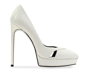 Saint Laurent White Pumps
