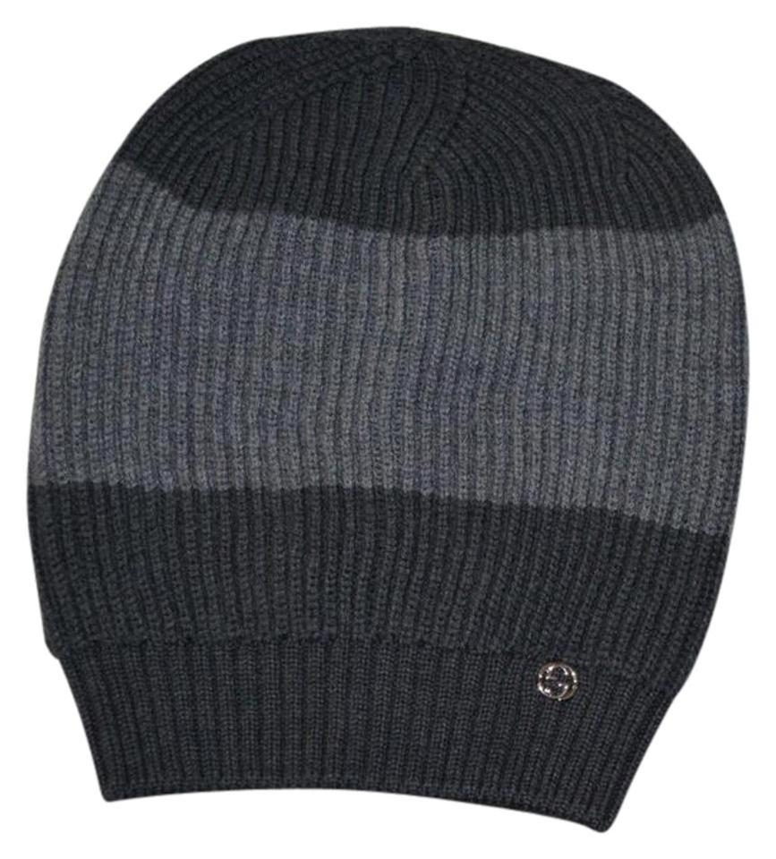 7c6bc1922e3 Gucci NWT GUCCI INTERLOCKING GG WOOL KNITTED BEANIE SKY HAT SZ ONE SIZE ...