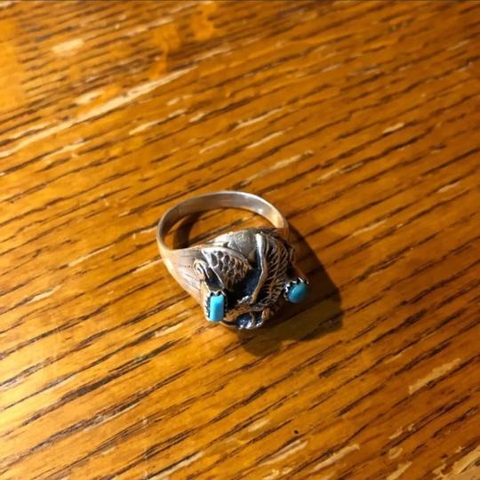 Unknown Wow Old Pawn Navajo 925 Turquoise Eagle Ring