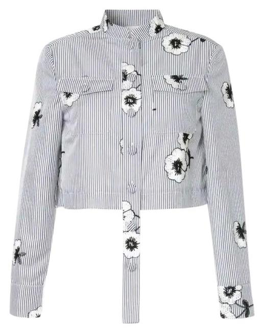 Preload https://img-static.tradesy.com/item/24693722/huishan-zhang-blue-white-floral-button-down-top-size-10-m-0-2-650-650.jpg