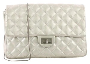 a16e3248135f Chanel Wallet on Chain East West Quilted Metallic Silver Suede ...