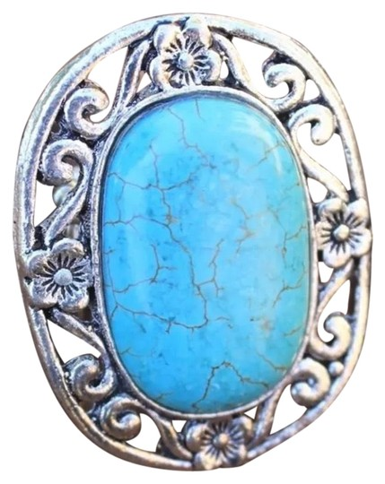 Preload https://img-static.tradesy.com/item/24693735/real-turquoise-stone-silver-stretch-ring-0-1-540-540.jpg