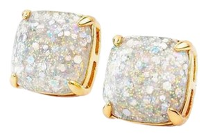 Kate Spade KATE SPADE 12K Gold-Plated Opal Galaxy Glitter Square Post Earrings