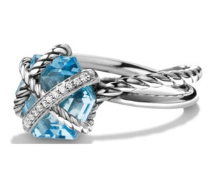 David Yurman David Yurman Cable Wrap Ring Blue Topaz