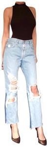 Off-White™ Straight Leg Jeans-Distressed