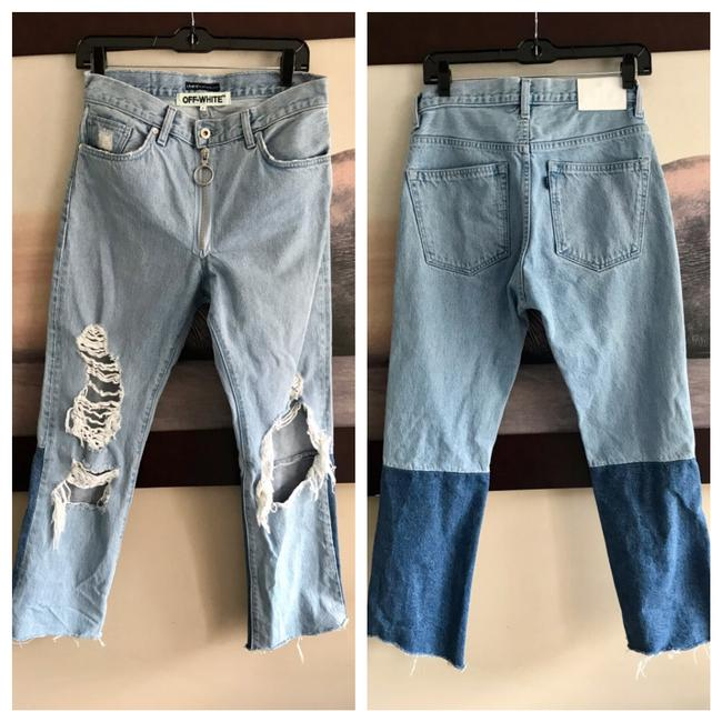 Off-White Straight Leg Jeans-Distressed