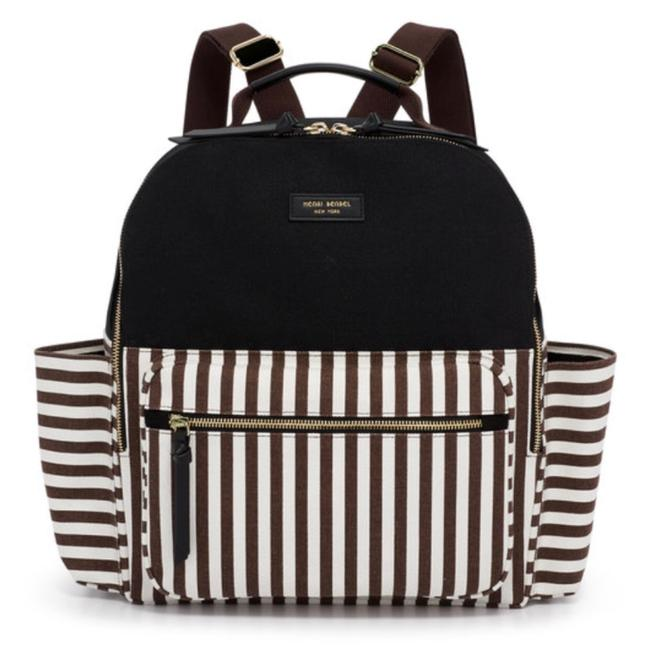 Item - Striped Large Multicolor Canvas Backpack