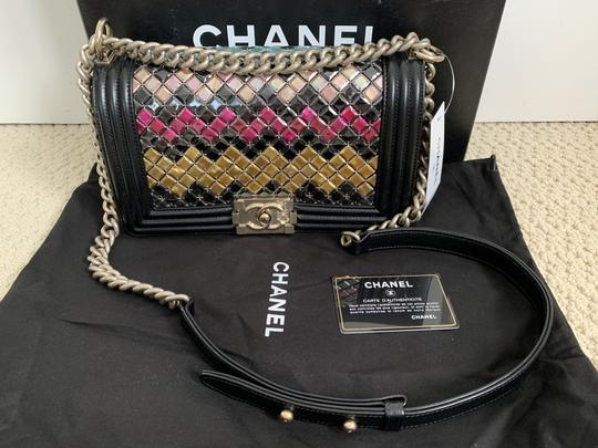 Chanel Leather Boy Front Flap Chain Shoulder Bag Image 2